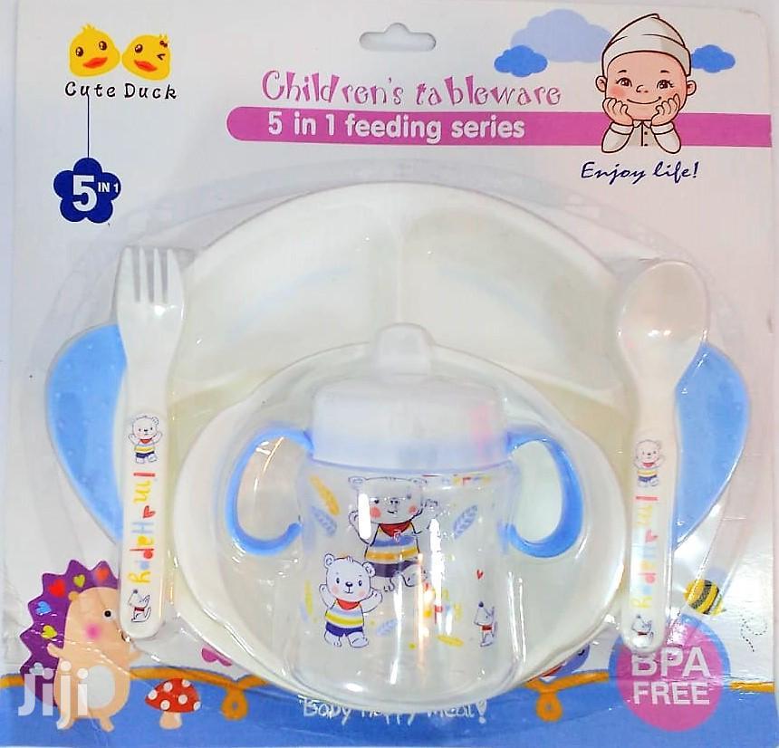 የህጻናት መማገቢያ 5 በ 1 Children Tableware 5 In 1