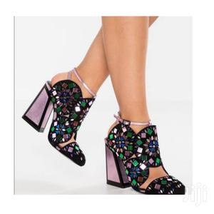 Kat Maconie Black With Light Pink Suede Frida Pumps Shoes   Shoes for sale in Addis Ababa, Bole