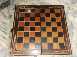 Chess and Checkers Board Game Wood Chess Board Set | Books & Games for sale in Addis Ababa, Arada
