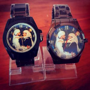 የእጅ እና የግርግዳ ሰዓት ላይ ፎቶ ስጦታ ለፍቅረኛ ለምርቃት ለሰርግ ለልደት   Watches for sale in Addis Ababa, Nifas Silk-Lafto