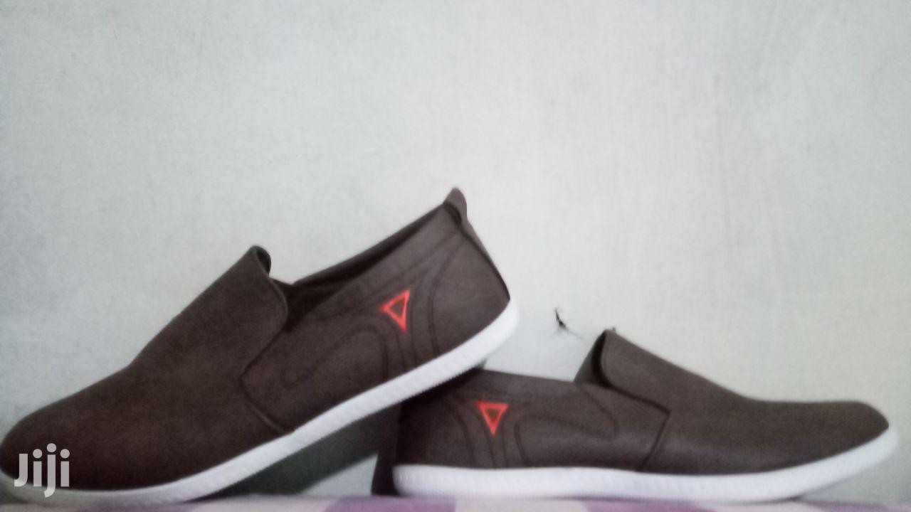 Brown Mens Flat Shoe