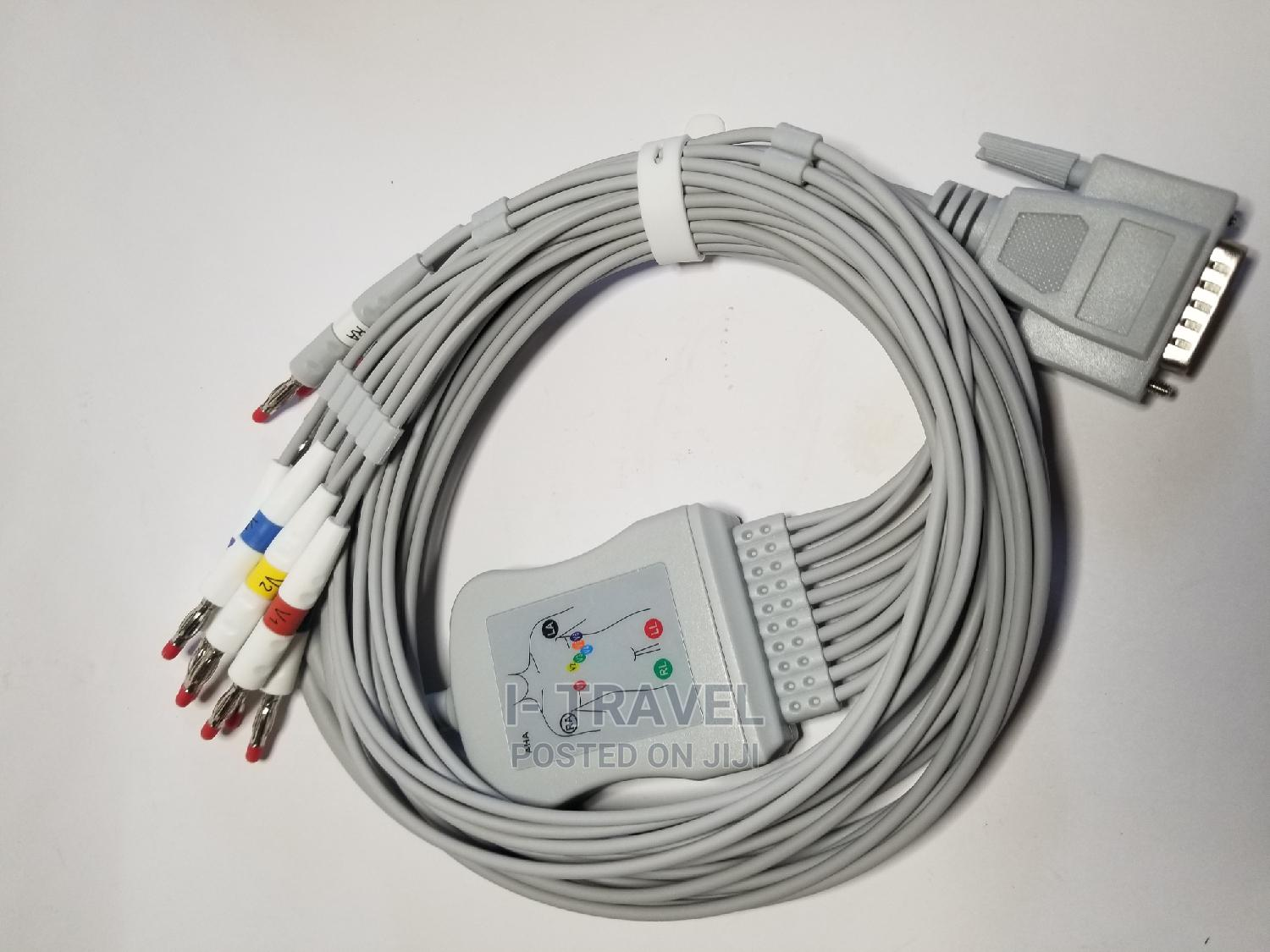 Universal ECG Lead Wire Nippon Compatible 12 Leads   Accessories & Supplies for Electronics for sale in Addis Ketema, Addis Ababa, Ethiopia