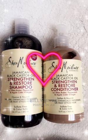 Shea Moisture Jamican Black Castor Oil Shampoo Conditioner   Hair Beauty for sale in Addis Ababa, Nifas Silk-Lafto