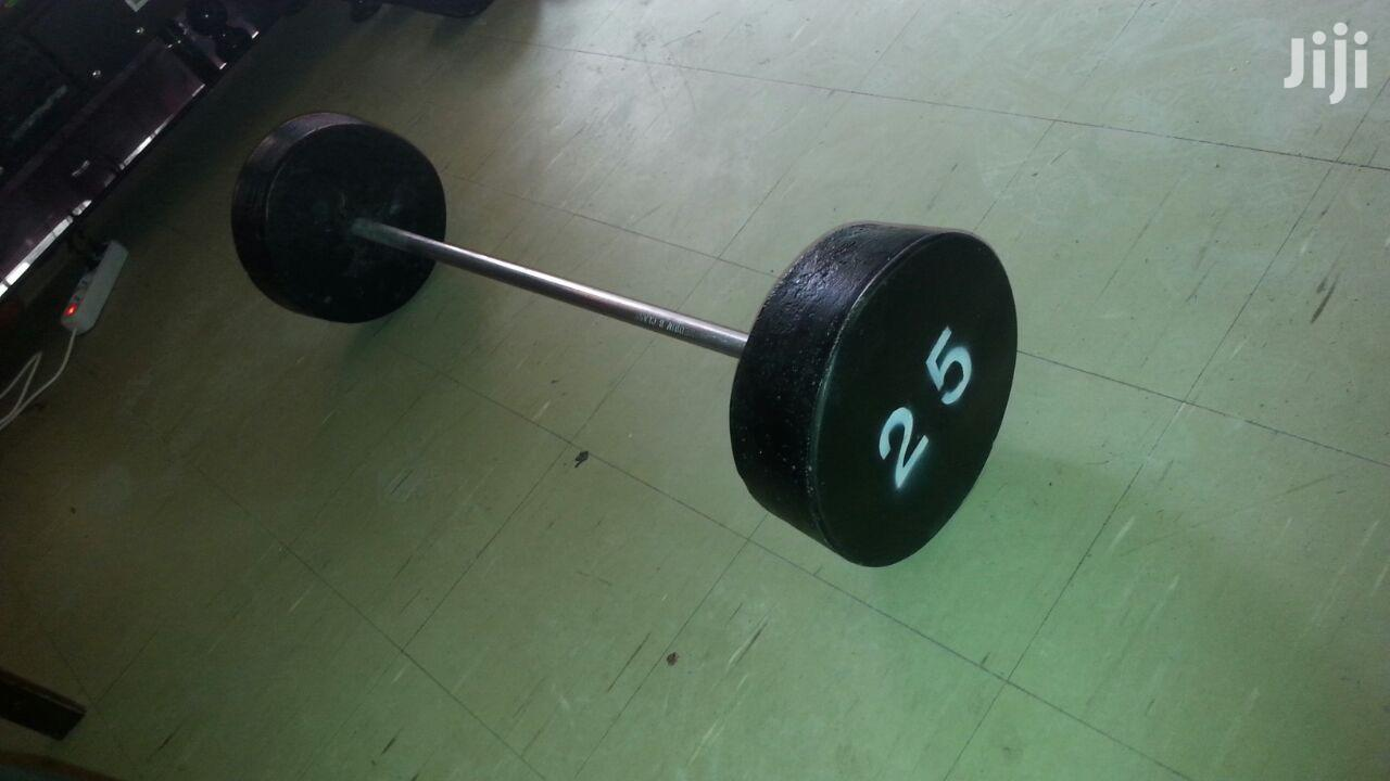 Semi-concrete Dumbbell,Barbell And Addition Barbell Weight | Sports Equipment for sale in Kolfe Keranio, Addis Ababa, Ethiopia